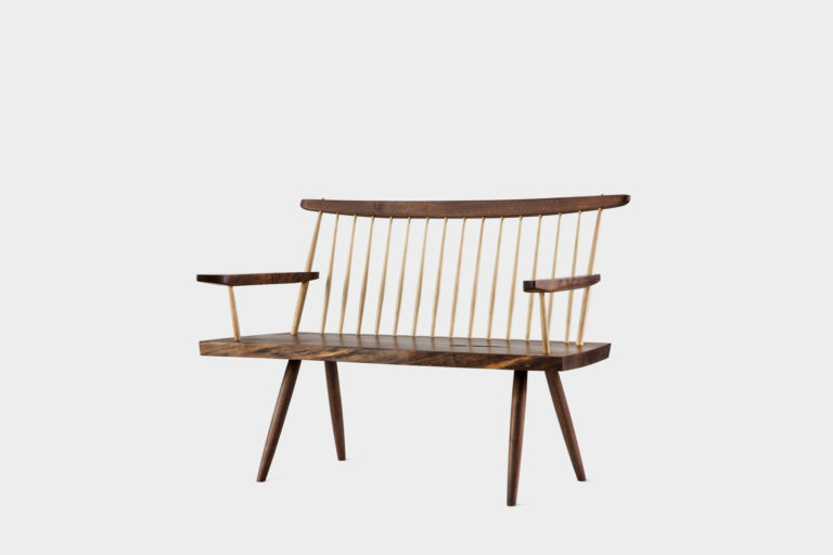 Bench with Back & Arms - George Nakashima Woodworkers
