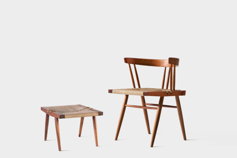 Grass Seated Chair with Stool - George Nakashima Woodworkers