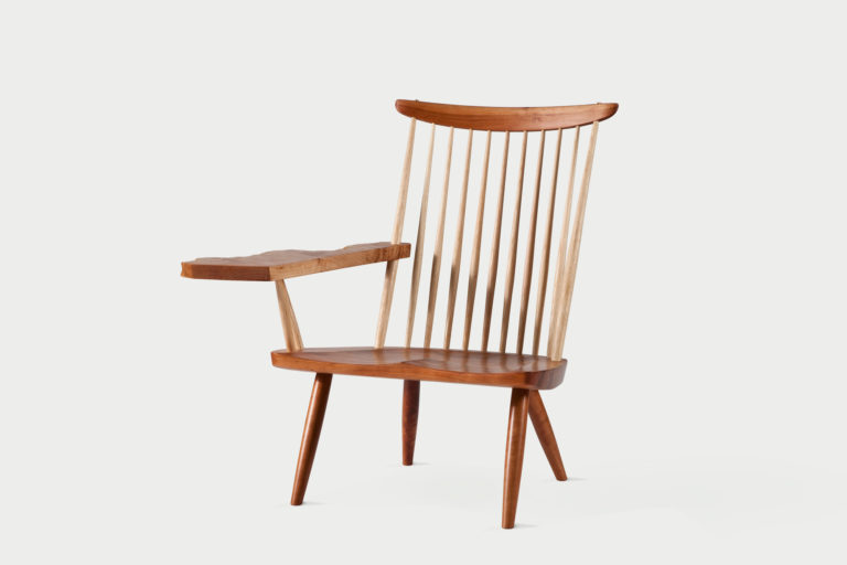 Lounge Chairs w/ Free-Form Arm - George Nakashima Woodworkers